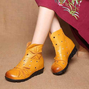 SOCOFY Vintage Flat Boots