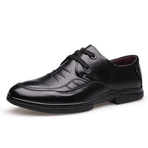 Men Non-slip Soft Genuine Leather Moccasins Business Casual Shoes