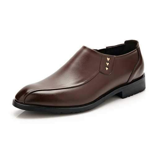 Men Pointed Toe Slip On Business Shoes