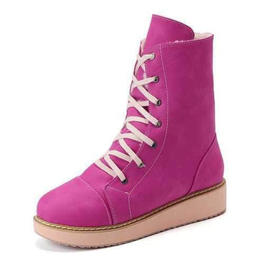 Large Size Lace Up Boots