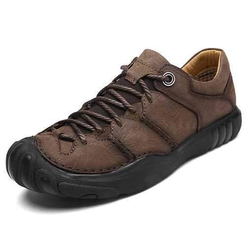 Men Cow Leather Anti-collision Outdoor Casual Shoes
