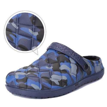 Men Camouflage Water Resistant Warm Slippers