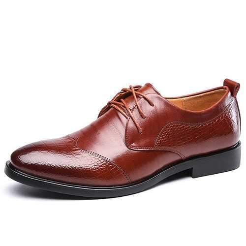 Men Cap Toe Dress Shoes