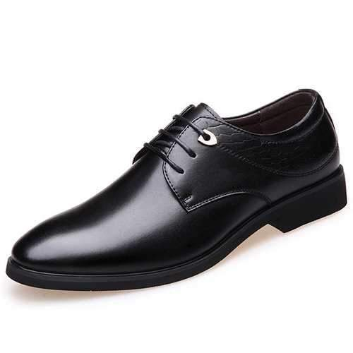 Men Lace Up Leather Dress Shoes
