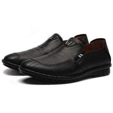 Men Soft Microfiber Leather Low-top Slip On Casual Shoes