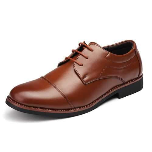 Large Size Men Cap Toe Business Casual Shoes