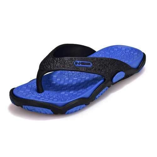Men Slip Resistant Clip Toe Casual Beach Slippers
