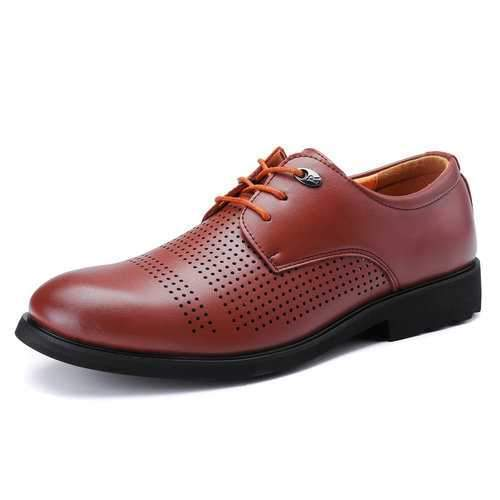 Large Size Men Hollow Out Business Shoes