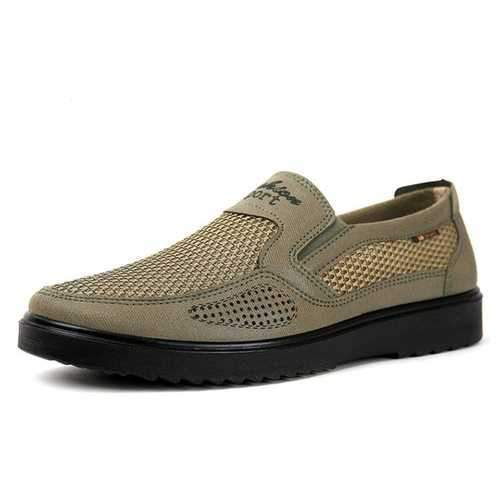 Men Old Peking Style  Mesh Splicing Casual Shoes