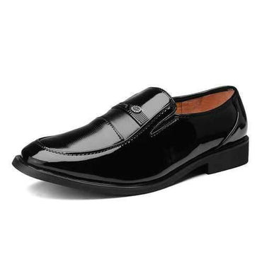 Men Black Business Casual Shoes