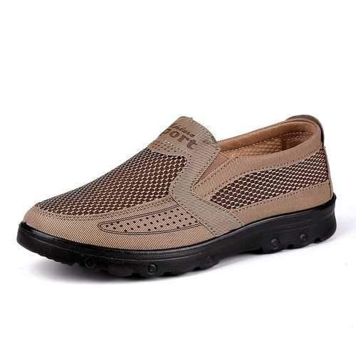 Large Size Men Mesh Splicing Casual Shoes