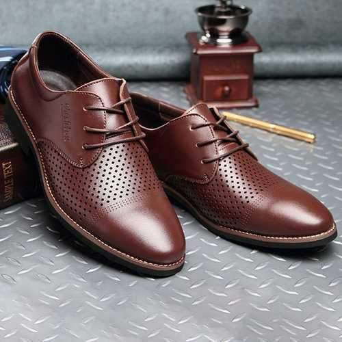 Men Lace Up Fromal Dress Shoes