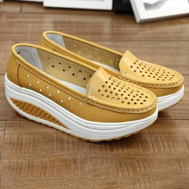 Platform Hollow Out Shake Casual Shoes