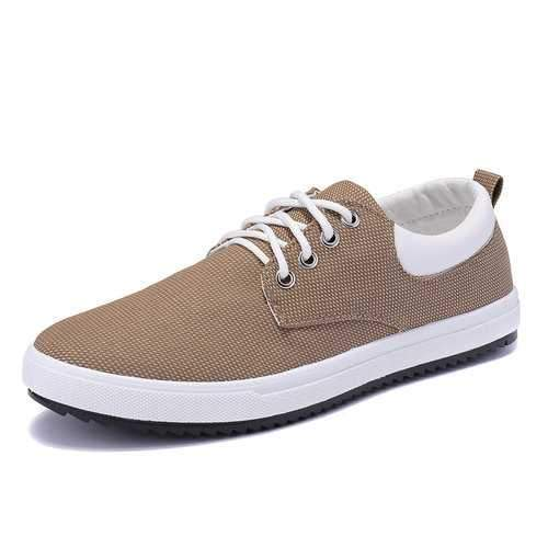 Men Canvas Flat Trainers