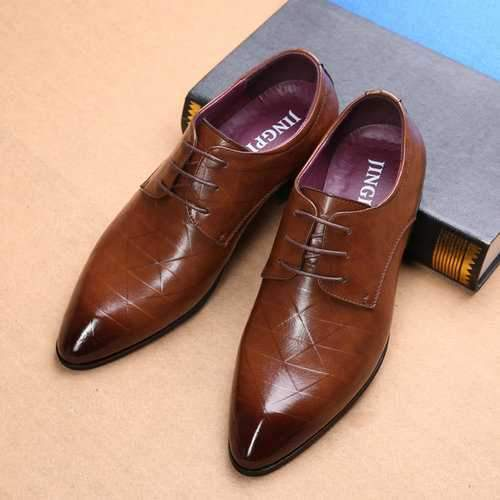 Men Leather Casual Formal Dress Shoes