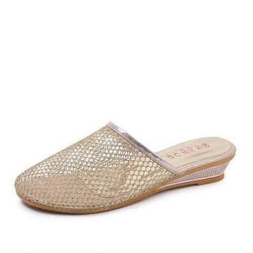 Breathable Mesh Round Toe Slippers