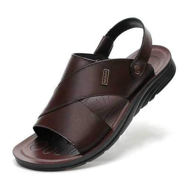 Men Genuine Leather Casual Beach Sandals
