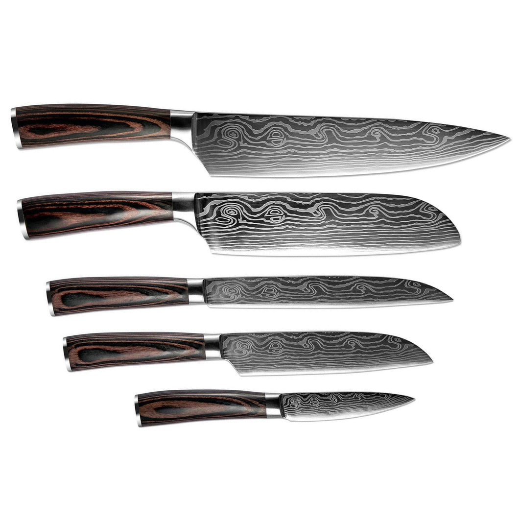 Bento 5-Piece Japanese Kitchen Knife Super Set - Free Shipping