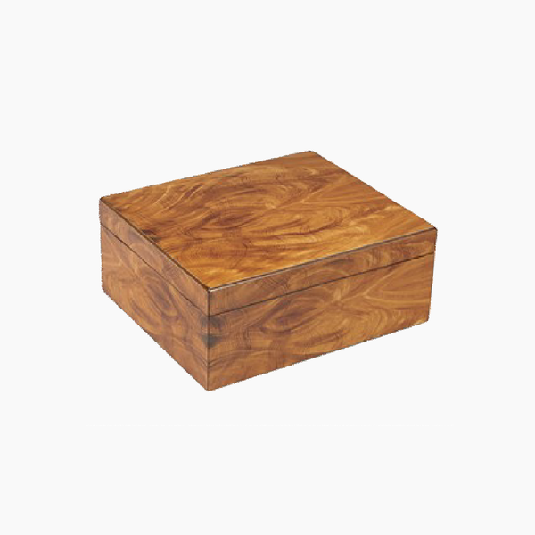 Personalized Golden Mahogany Humidor (40 Ct)