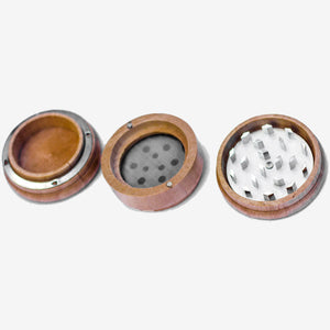 Kraynos Personalized 3 Piece Tobacco Grinder with Pollen Catcher