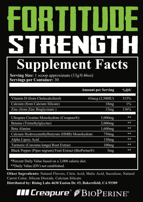 Fortitude Creatine/Strength - Rising Labs