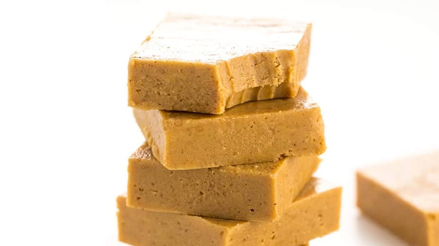 Peanut butter collagen fudge