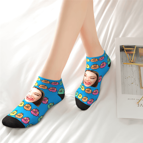 Custom Cute Banana Ankle Socks