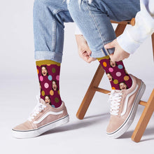 Custom Face On Dots Socks