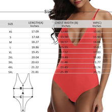 Custom Face Heart Women's One Piece Sexy Swimsuit