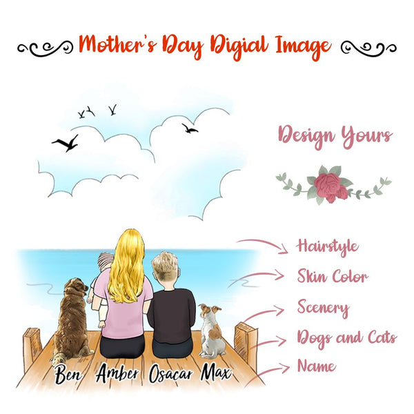 Mother's Day Family Digital Image Design Your Own, Share and Get $1 OFF Coupon Code