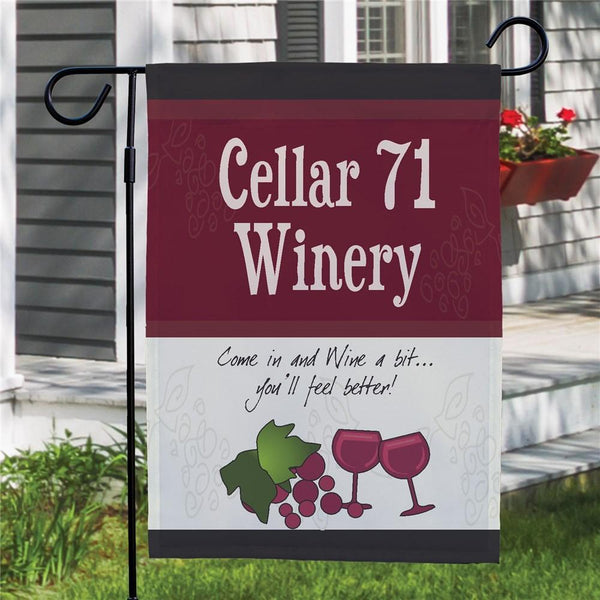 My Winery Custom Garden Flag