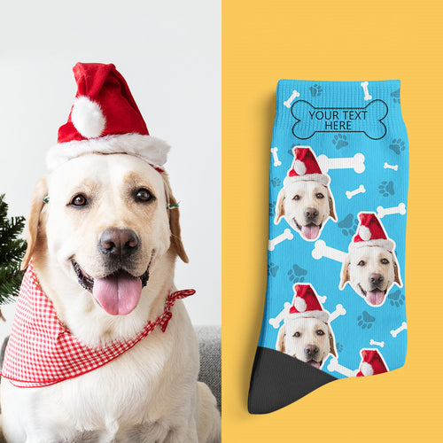 Photo Socks, Custom Dog Face Socks Christmas Gift