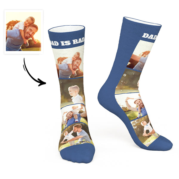 Custom Photo Socks For Dad