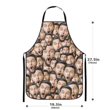 Custom Face Mash Photo Apron Kitchen Cooking