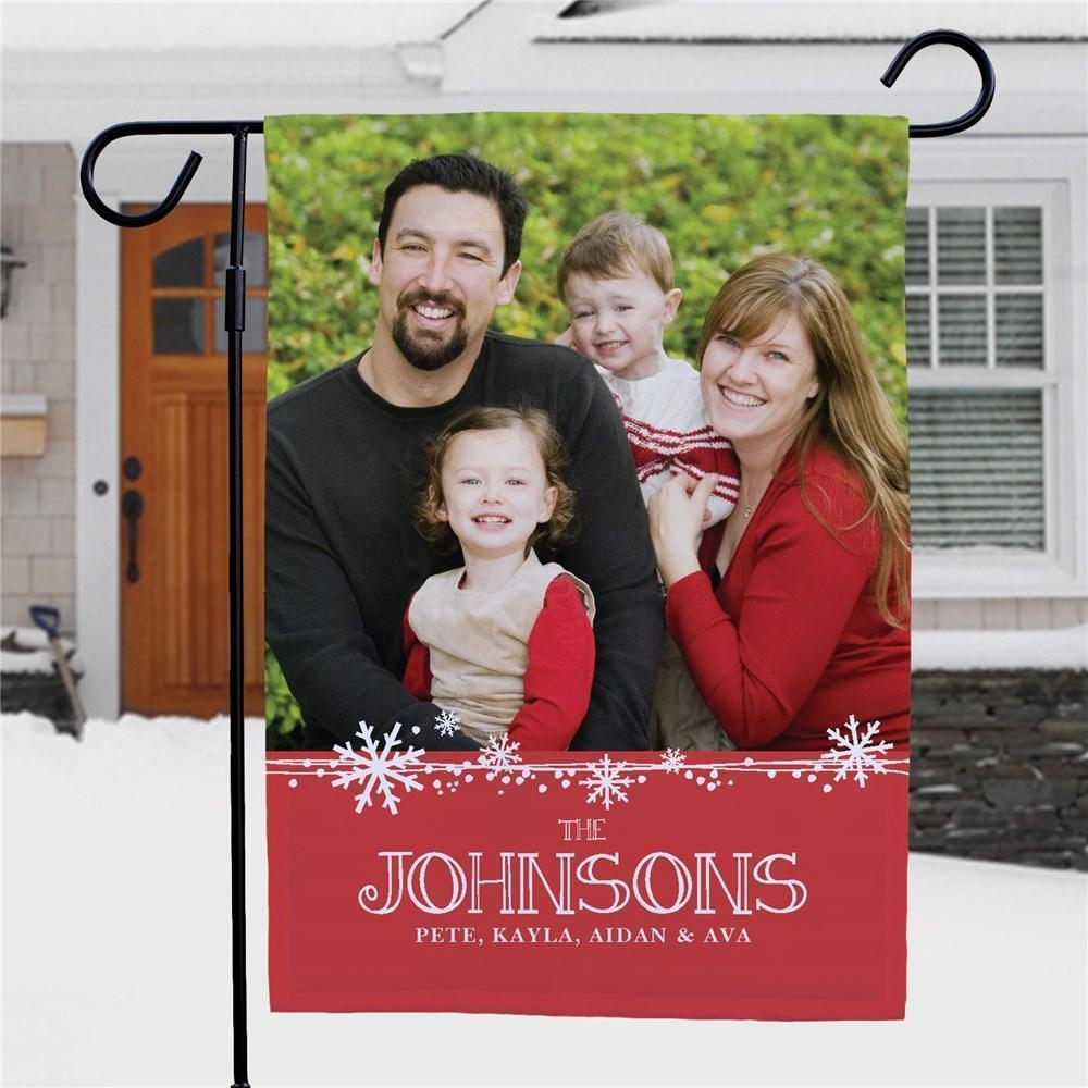 Custom Christmas Photo Garden Flag