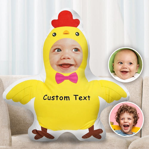 Custom Face Pillow Personalise Photo Pillow Two Photos Double Sided Pillow Gift Funny Chick Shaped