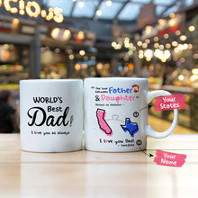 Personalized the love between a dad and daughter knows no distance mug