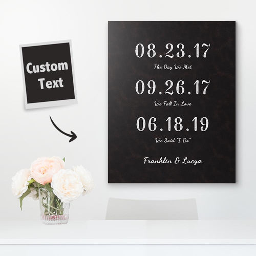 Custom Date Canvas