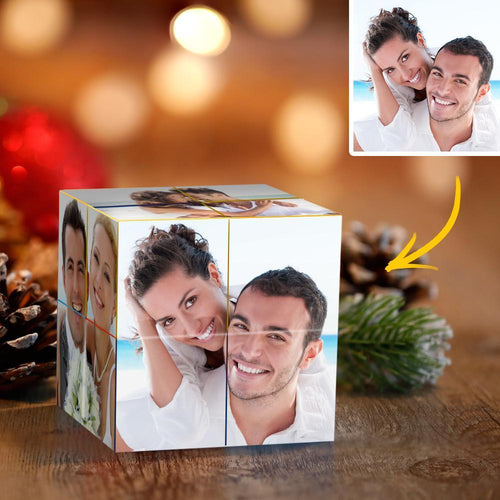 Custom Photo Rubik's Cube Personalized DIY Infinity Photo Cube Folding Couple Photo Cube
