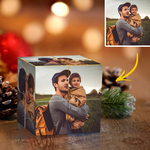 DIY Infinity Photo Cube Custom Photo Folding Photo Cube Home Decoration Rubik's Cube