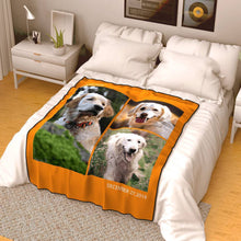 Personalized Photo Blanket Fleece with Text - 3 Photos