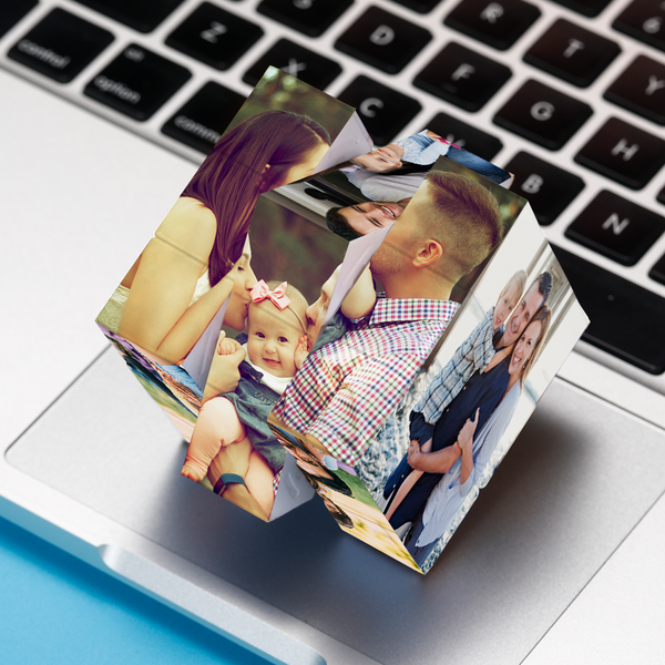 Personalized Multiphoto Rubik's Cube Family Gifts Home Decoration