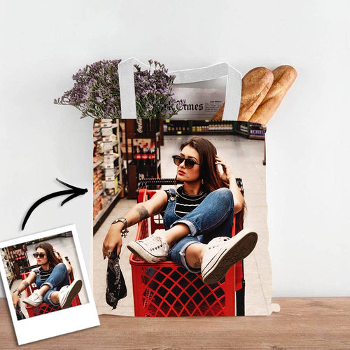 Personalise Photo Upload Design Your Own Double Sided Tote Bag