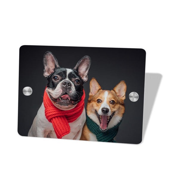 Custom Photo Door Signs Personalized House Signs Plates Door Plates Square - Pet