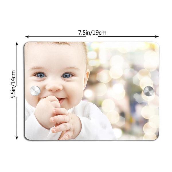 Custom Photo Door Signs Personalized House Signs Plates Door Plates Square - Baby