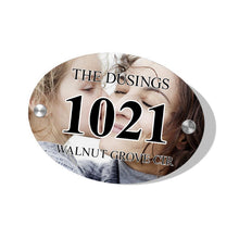 Personalized Door Signs Custom House Signs Plates Oval Door Plates with Photo & Text