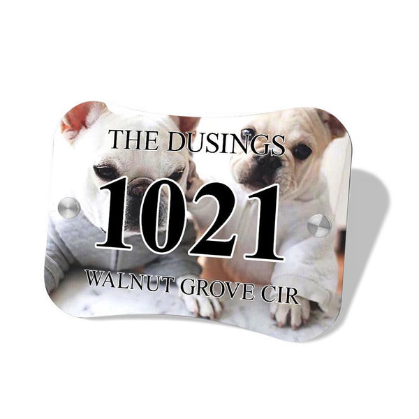 Personalized Door Signs Custom House Signs Plates Pillow Shaped Door Plates with Photo & Text