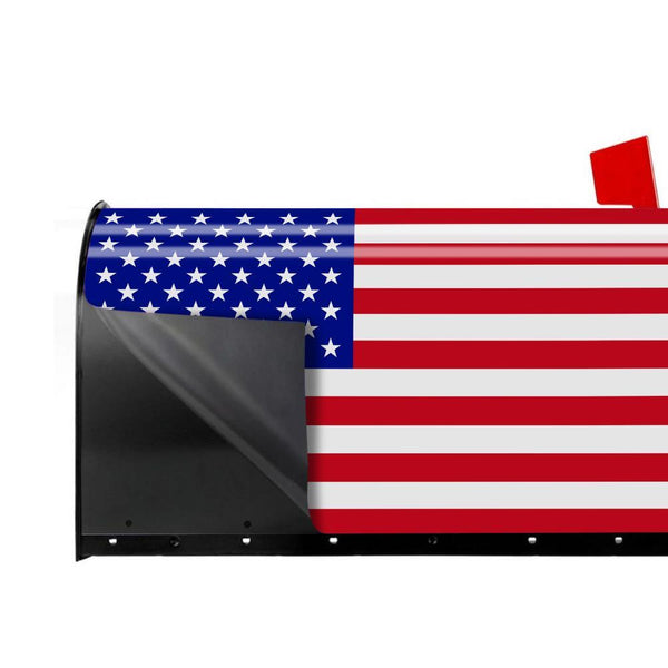 Personalized Photo Mail Box Cover American Flag PVC Cover Custom Decor