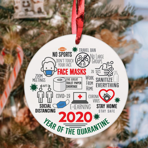 Personalized Family Photo Christmas Tree Ornament Custom Christmas Gift