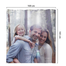 Custom Family Photo Shower Curtain Custom Backdrop Polyester Waterproof